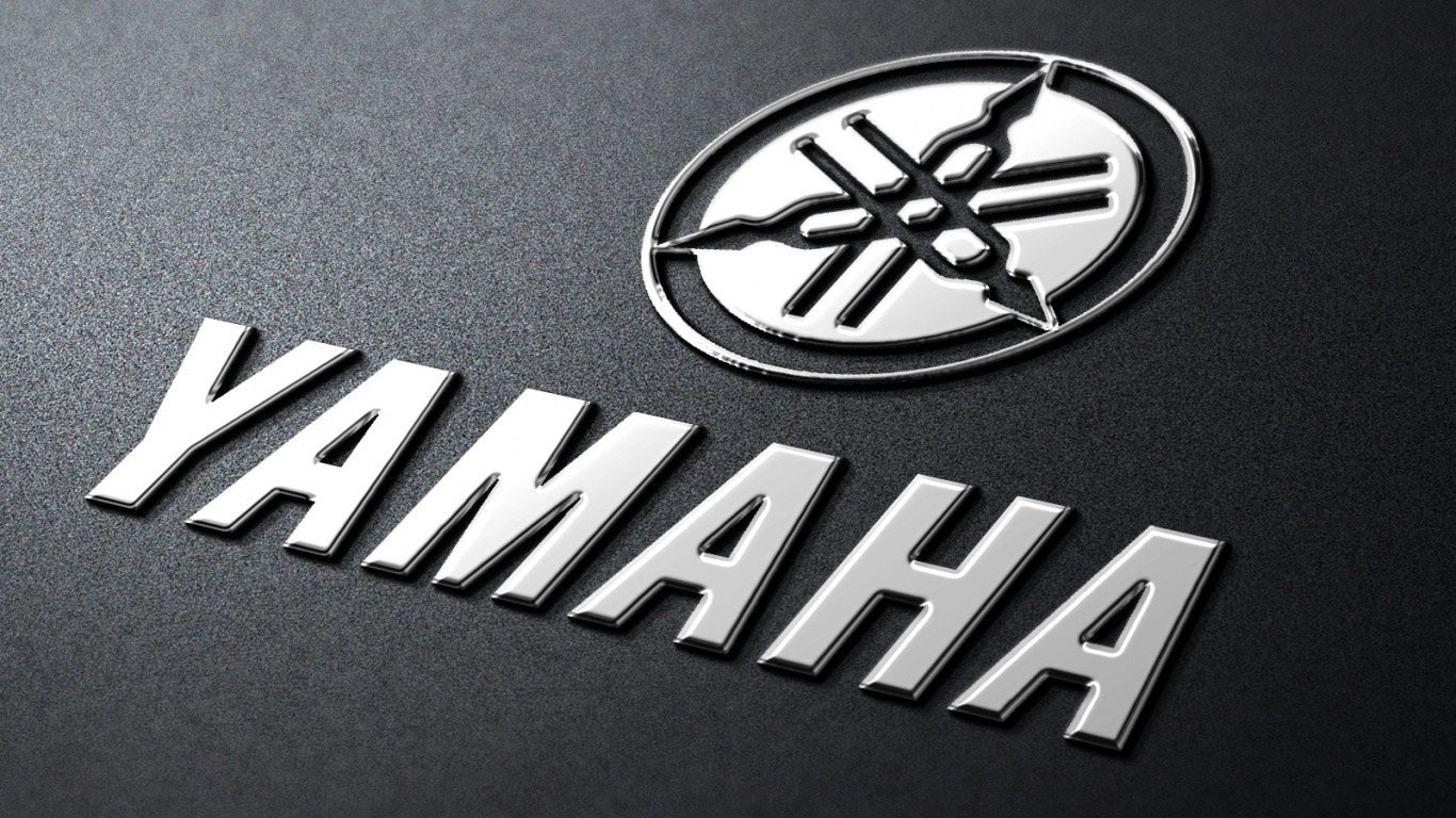 1366x768 yamaha metal logo desktop PC and Mac wallpaper 1366x768