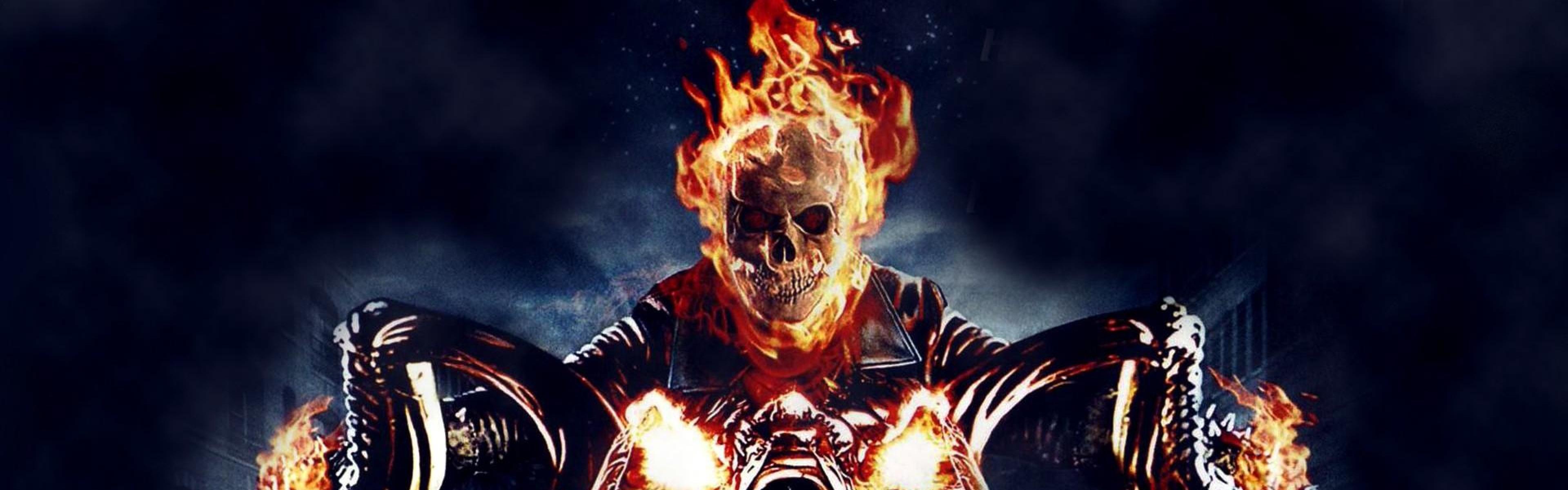 Ghost Rider Skull Wallpaper 3840x1200