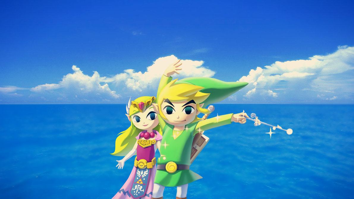 Hd wallpaper zelda - Wind Waker Hd Link And Zelda Wallpaper By Nolan989890 On Deviantart