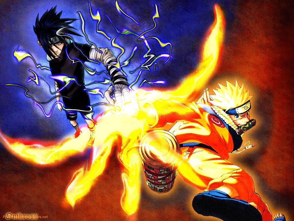 Naruto and Sasuke Fighting Naruto Shippuden Wallpapers on this Naruto 1024x768