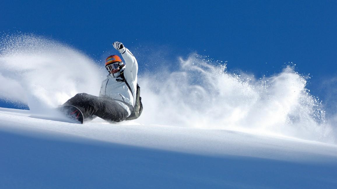 Snowboard Descent Extreme Snow Balance   Stock Photos Images 1156x650