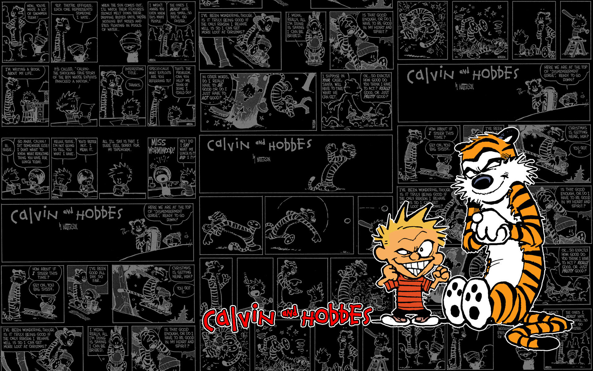 A Tribute to Calvin and Hobbes by WordofWar 1920x1200
