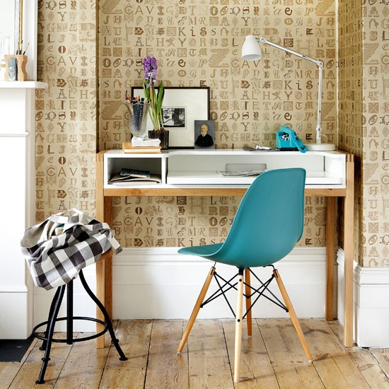 Lettered Wallpaper Home Office Wallpaper Home Office Idea