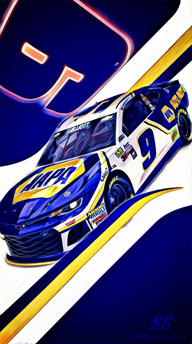 download Chase Elliott 2018 New Paint 9 L E T [670x1200] for 670x1200