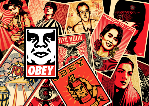 OBEY Wallpaper made by me 500x358