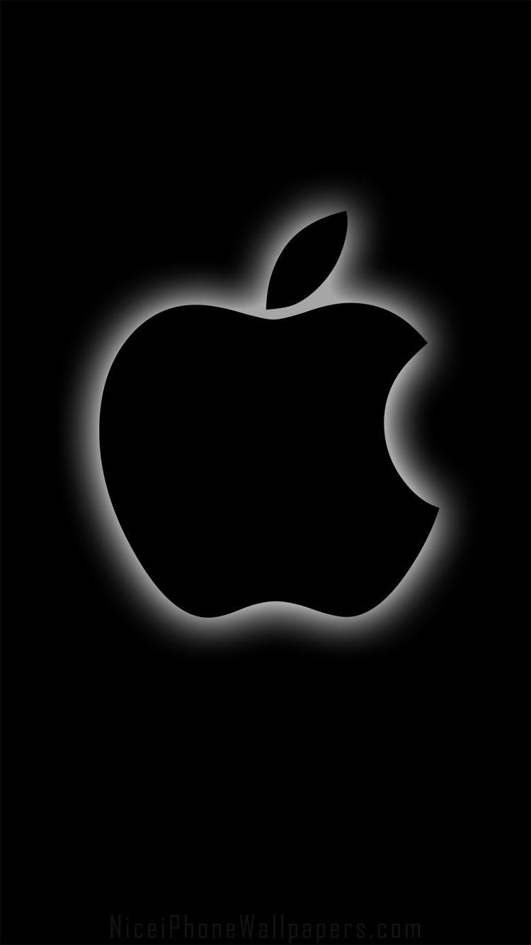Black apple iPhone 66 plus wallpaper and background Black apple 750x1334