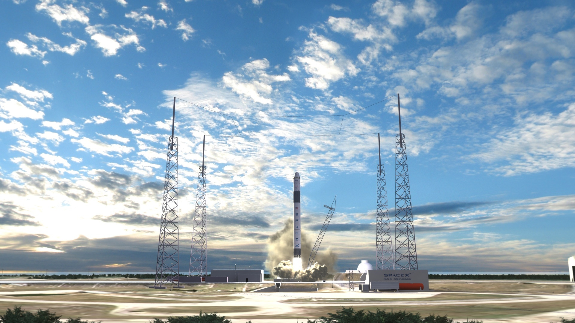 SpaceX successfully test fires Falcon 9 rocket in Texas   Wikinews 1920x1080