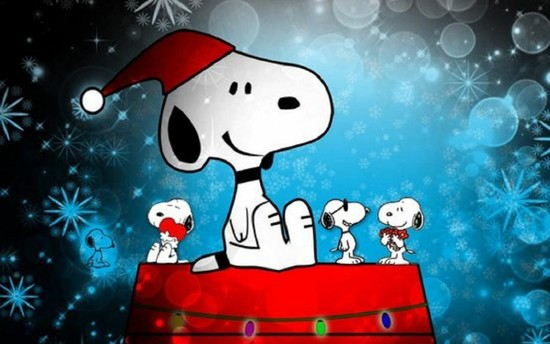 Snoopy Christmas Wallpaper 550x344