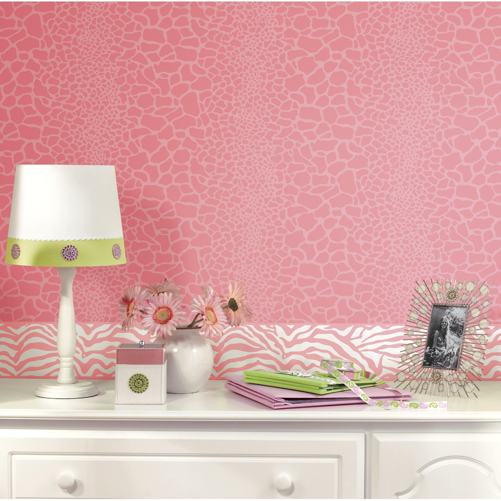 [48+] Pink Zebra Wallpaper Border on WallpaperSafari