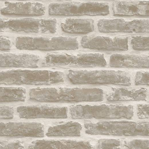 Natural   J34407   Rustic Brick Effect   Sculptured Vinyl Wallpaper 520x520