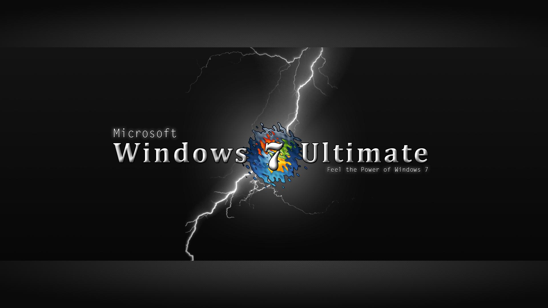 Windows 7 Ultimate Black Wallpaper Brands Wallpaper Background 1920x1080