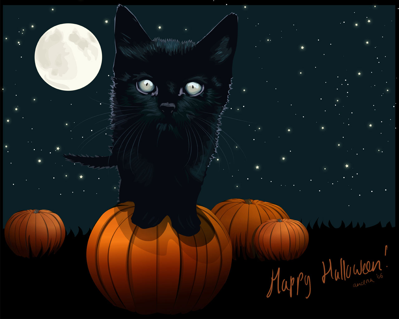 Free Download Cute Yet Scary Halloween Wallpaper 2014 1280x1024