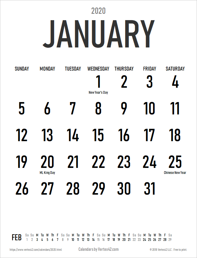 2020 Calendar Templates and Images 655x859