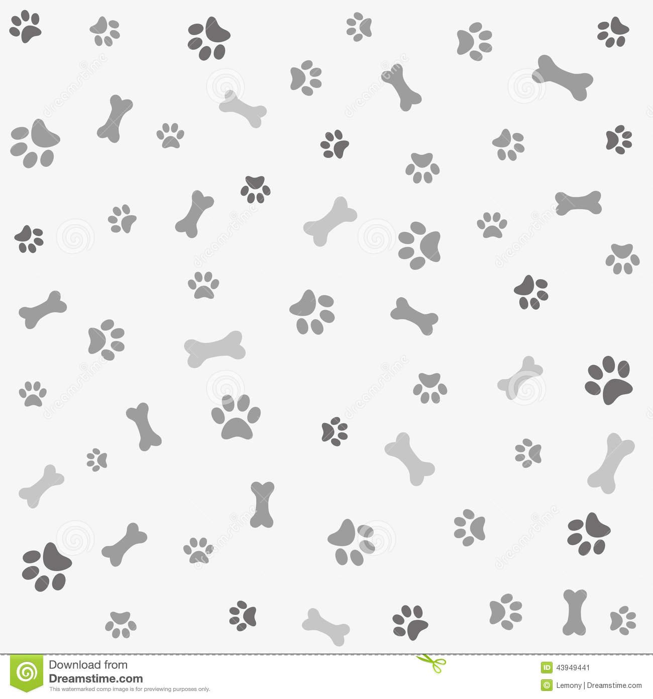 Dog bone wallpaper wallpapersafari - Dog print wallpaper ...