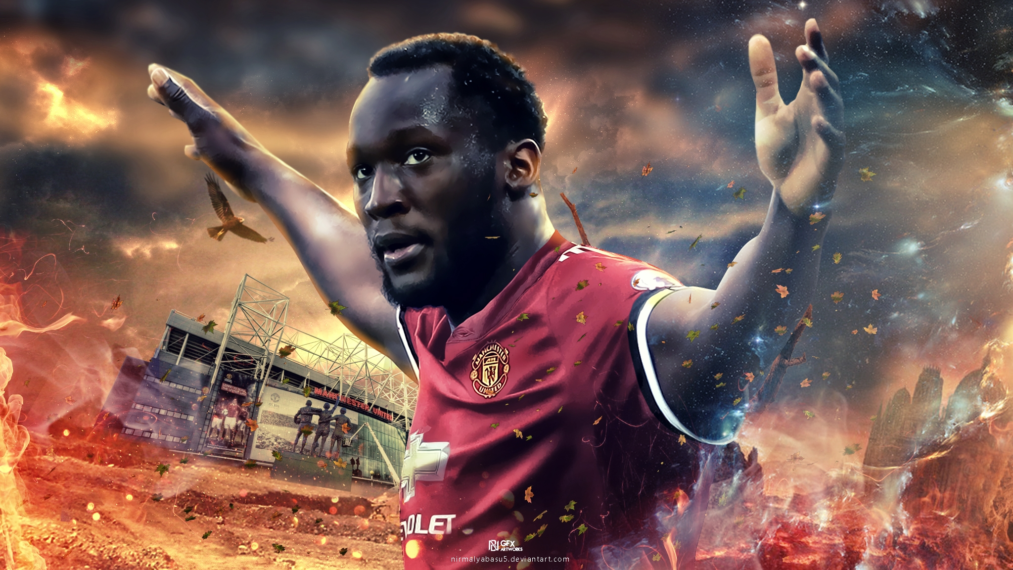 Luxury Manchester United Wallpaper Lukaku Great Foofball Club 2048x1152