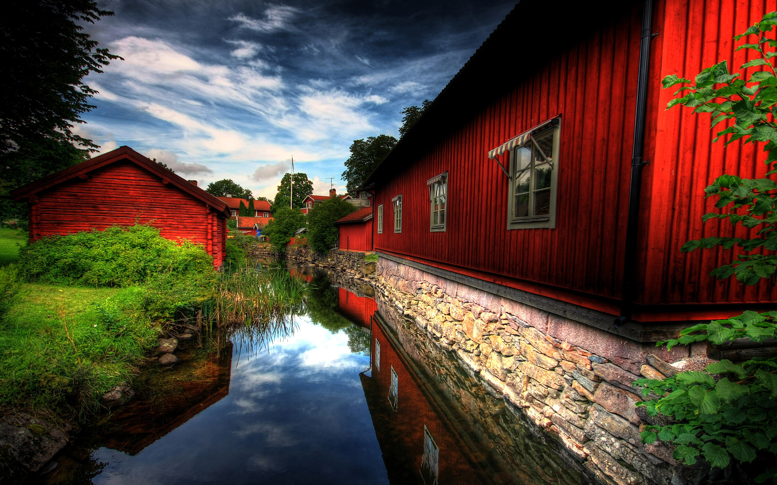 Red Village Wallpapers HD Wallpapers 2560x1600
