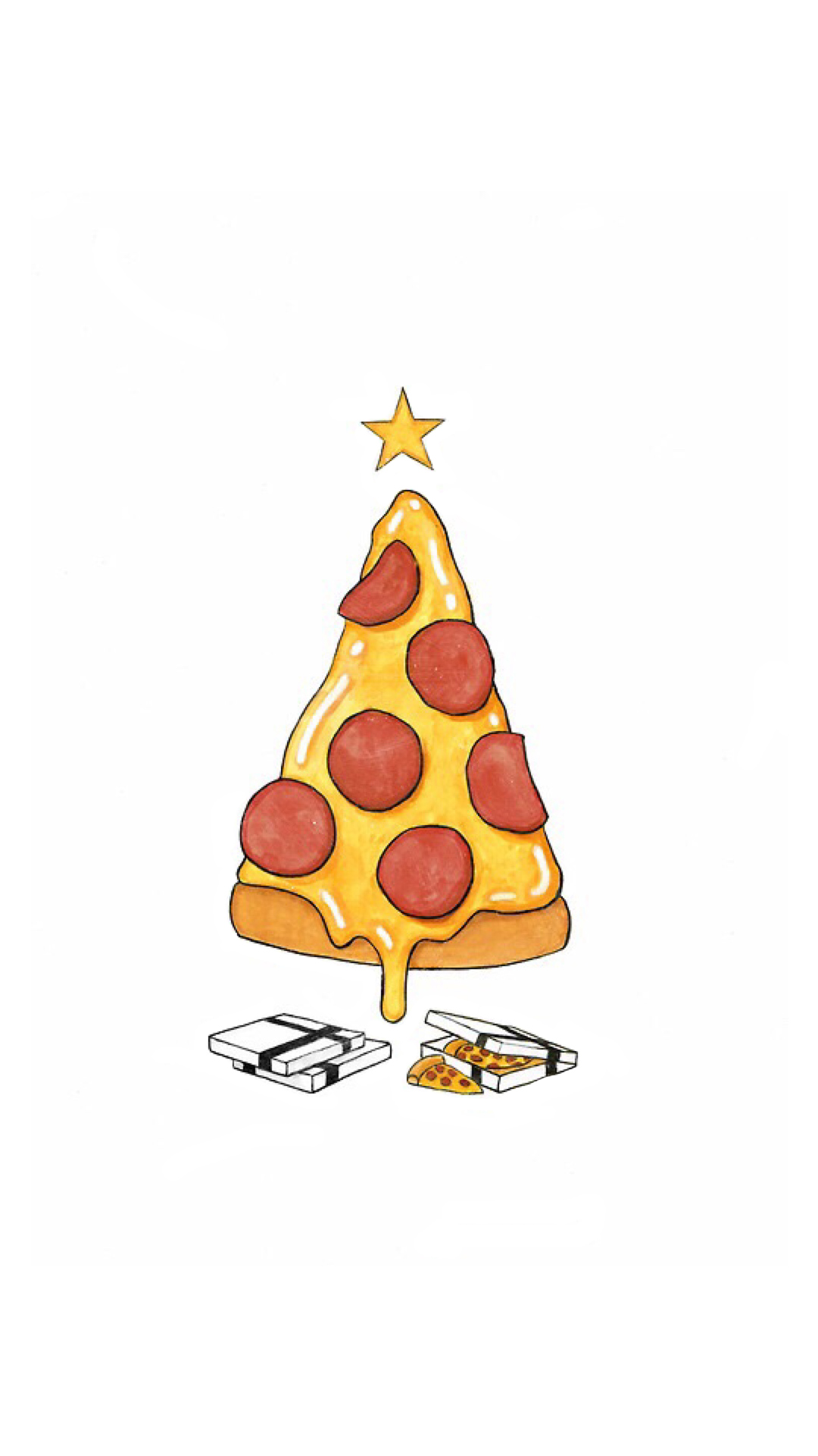 Funny Pizza Christmas Tree Android Wallpaper   Funny Christmas 1080x1920