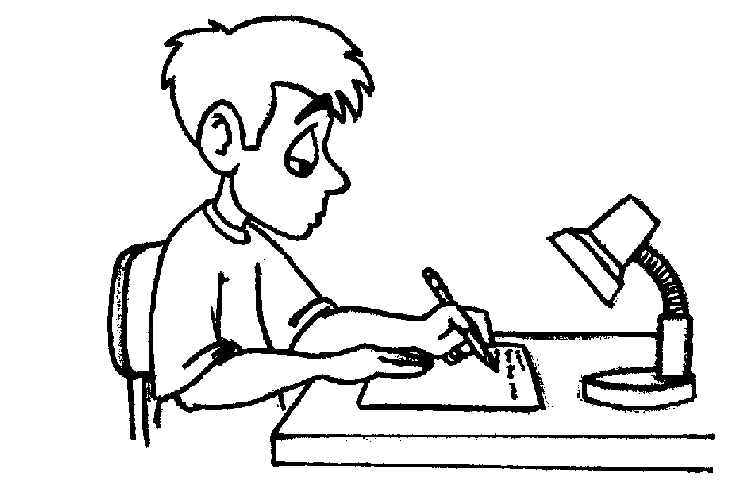 Wallpapers Boy Writing Clipart Black And White 752x502