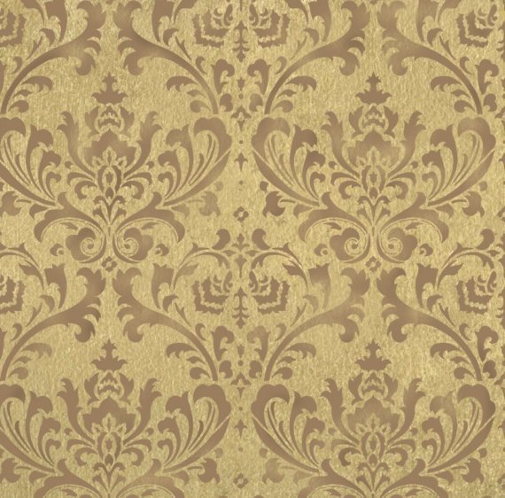 STENCIL DAMASK BROCADE PATTERN 24X26 Wallpaper Stenciling Wall Decor 570x562