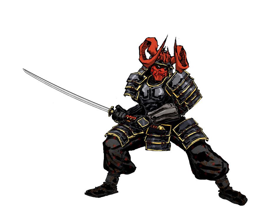 Commish Samurai Warrior Commission by anjinanhut 900x707