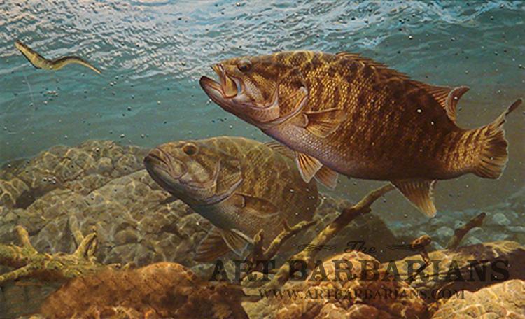 Smallmouth Bass Jumping Ganging up   smallmouth bass 750x456