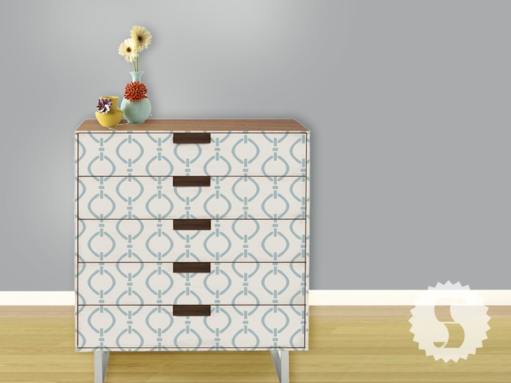 Creative ways to use removable wallpaper on furniture swagpaper 736x552