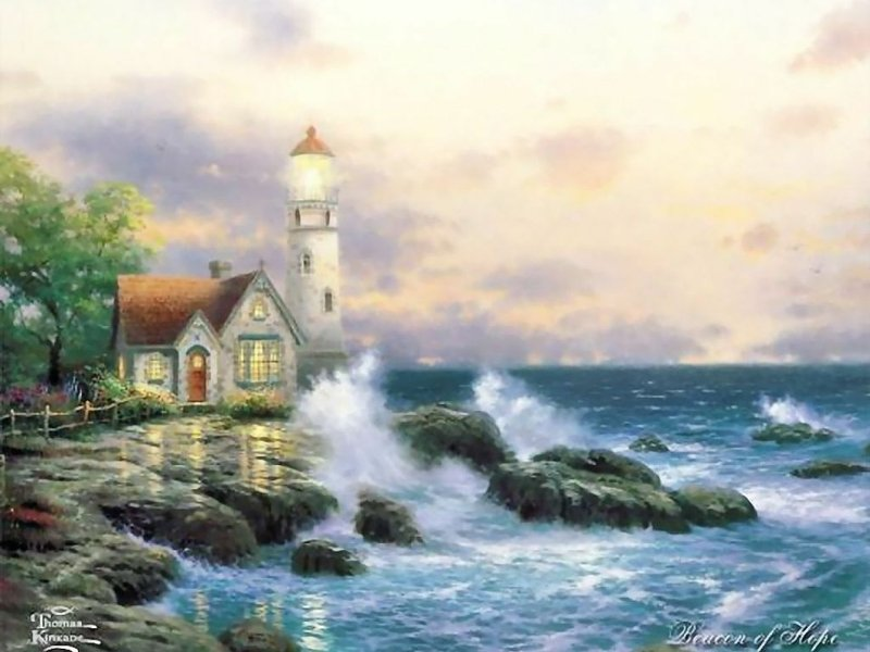 preview thomas kinkade beacon of hope wallpaper Wallpaper Download 800x600