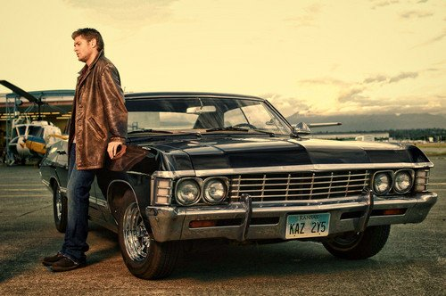 Supernatural images Dean Winchester with Chevrolet Impala 500x332