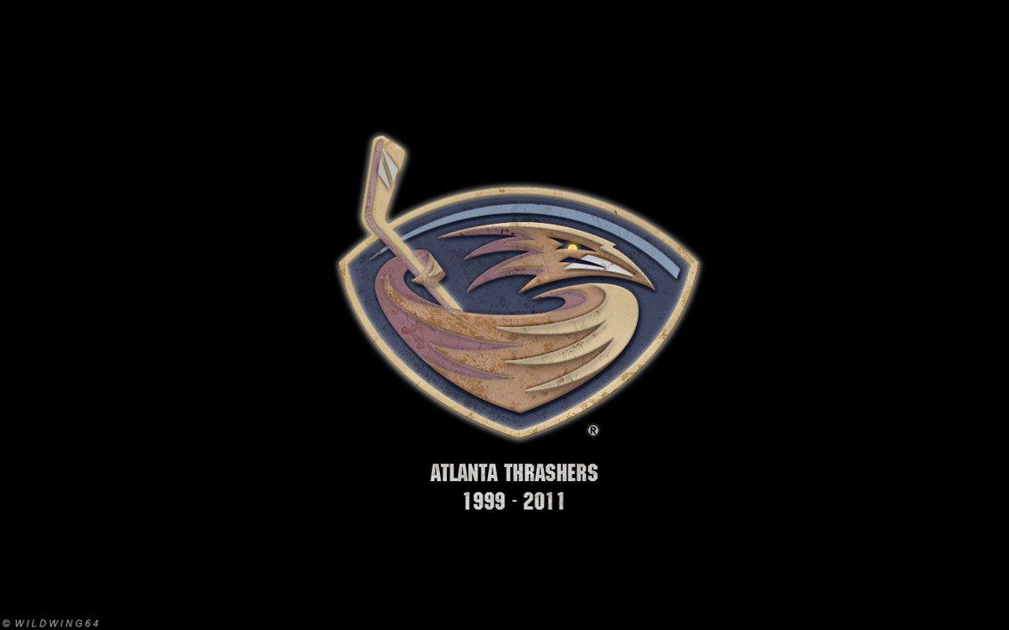 Atlanta Thrashers   Metallic logo wallpaper by wildwing64 on 1131x707