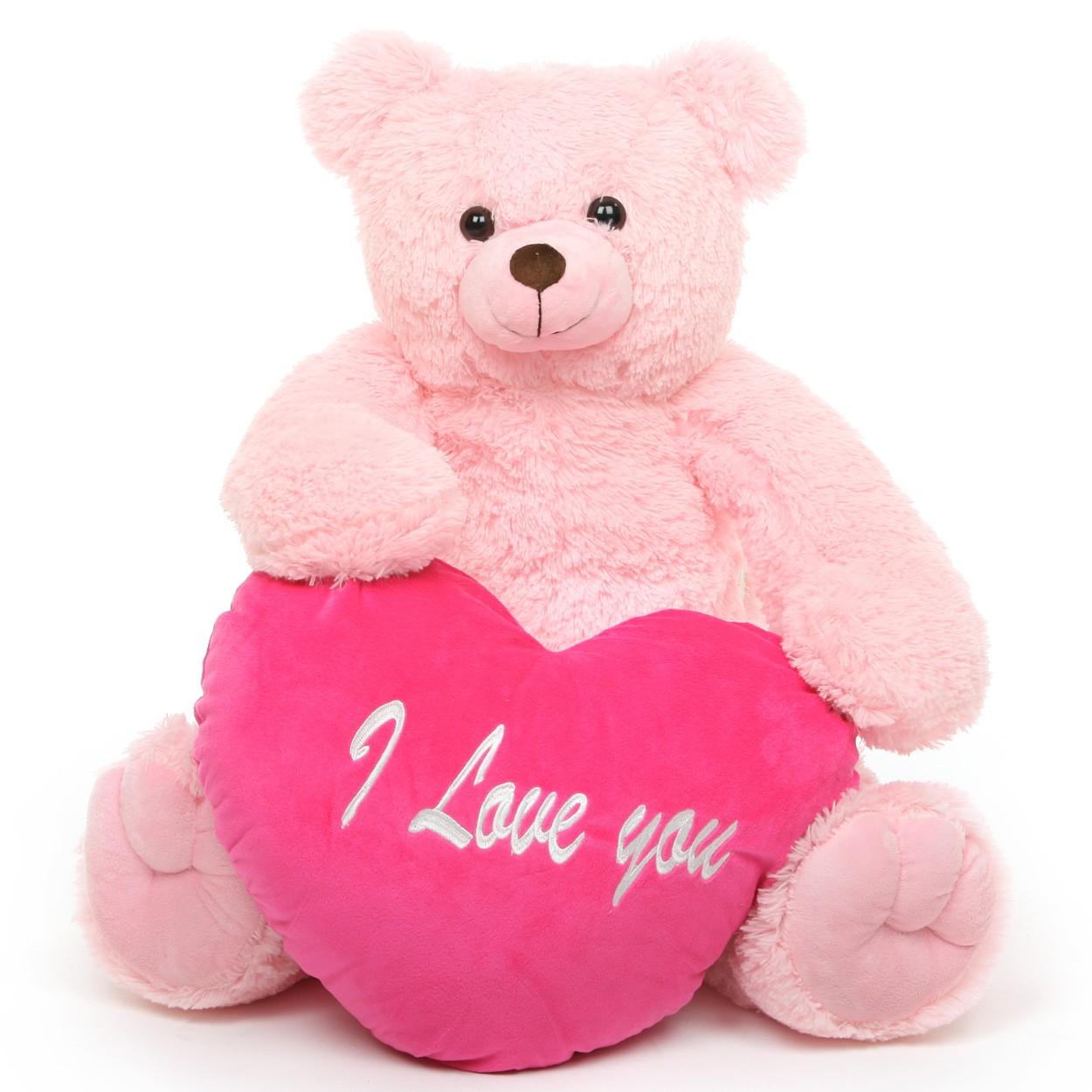 Pink cute teddy bear wallpapers - photo#15