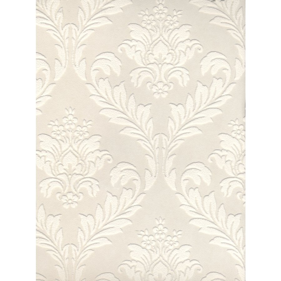 Cover Easy Paintable Damask Textured Strippable Prepasted Wallpaper 900x900