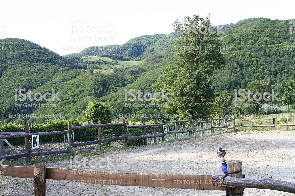 Bobbio Horse Corral With Wooded Hills In The Background Stock 1024x683