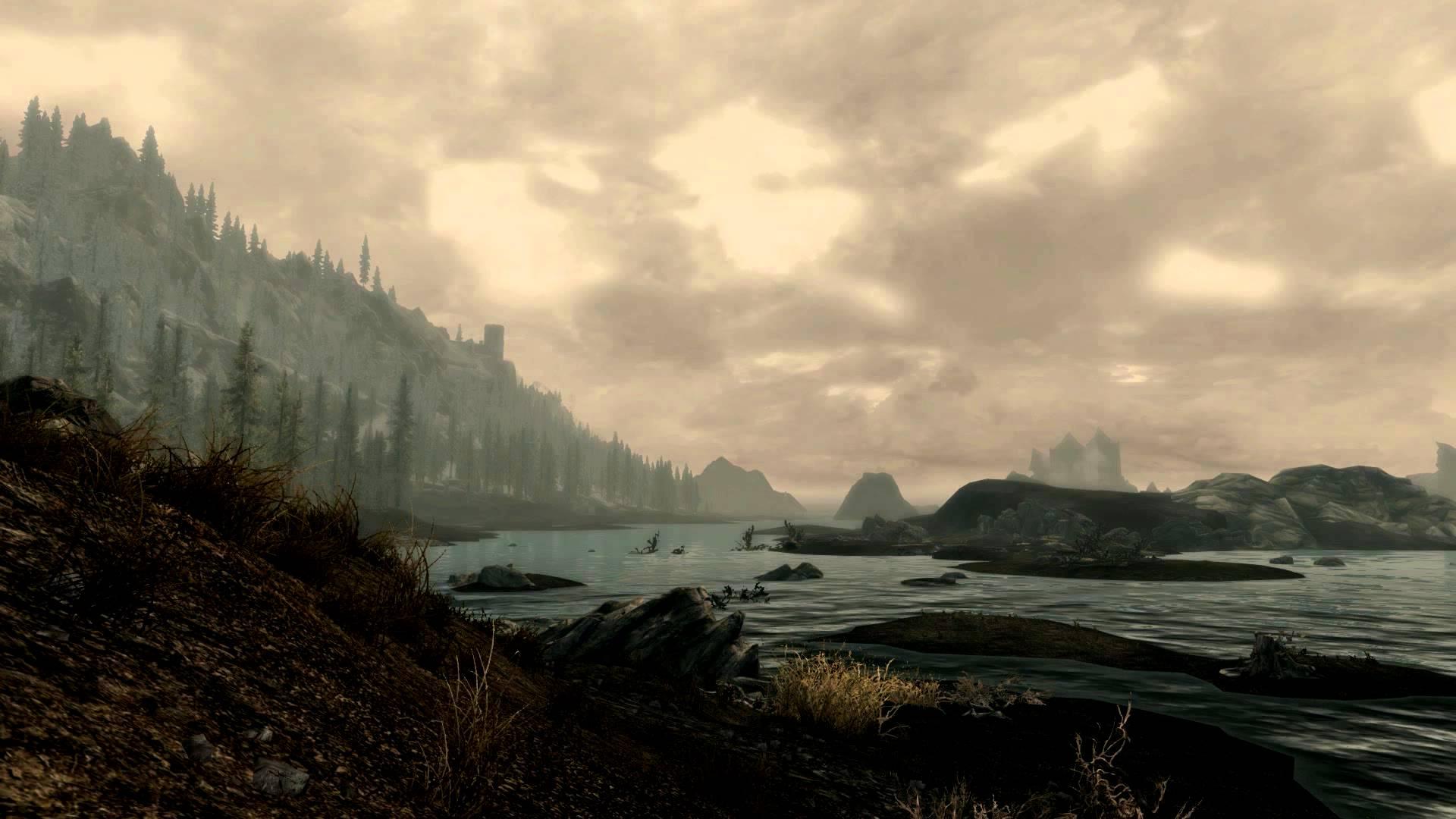 Skyrim Beautiful Shoreline 3 Dreamscene Video Desktop Wallpaper 1920x1080