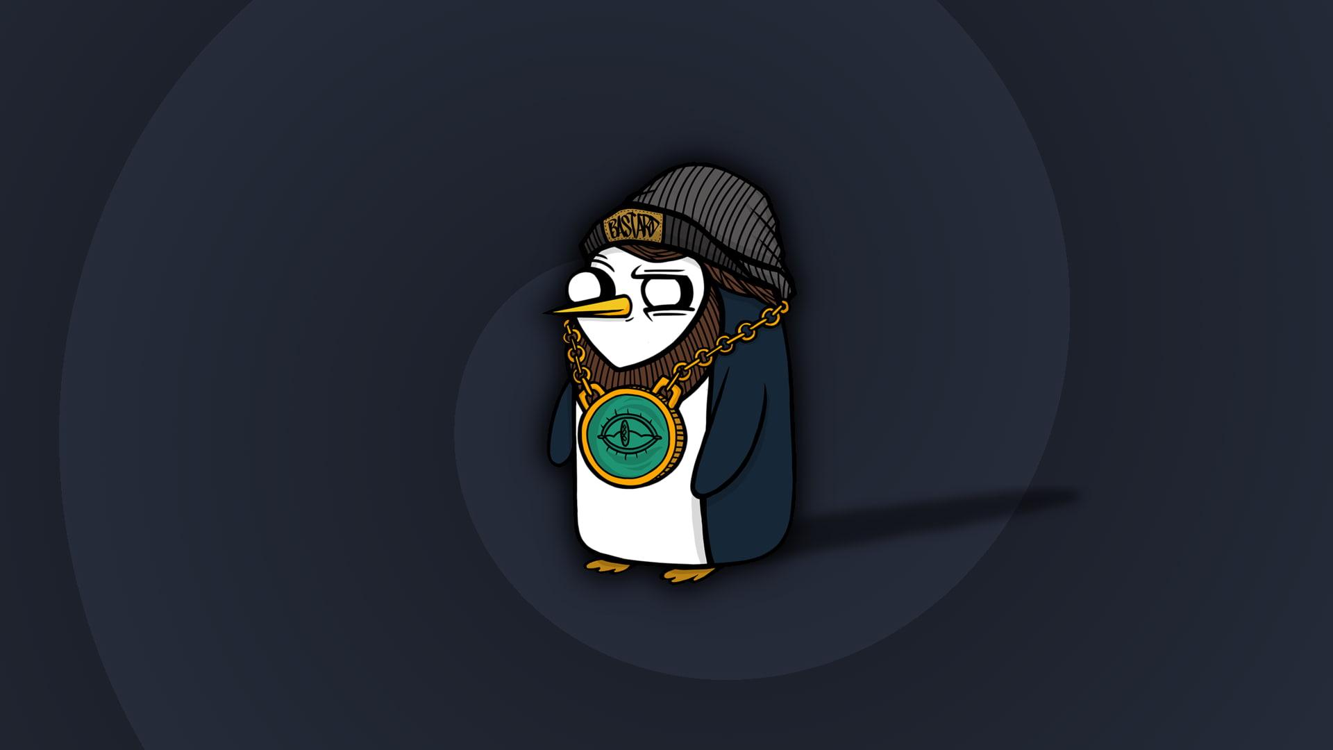 HD wallpaper Linux Gunter penguins minimalism Wallpaper Flare 1920x1080