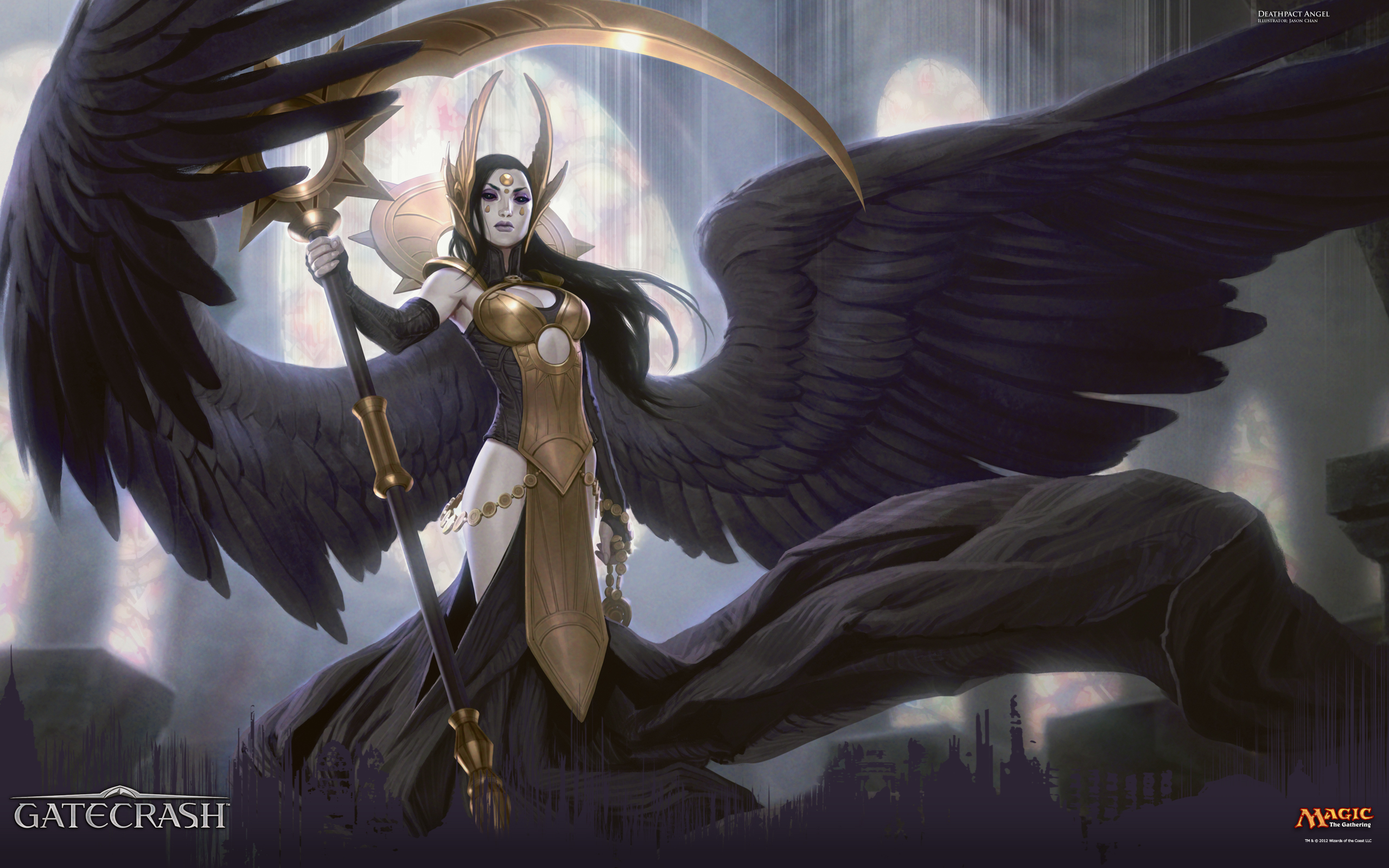 Wallpaper of the Week Deathpact Angel Daily MTG Magic The 2560x1600