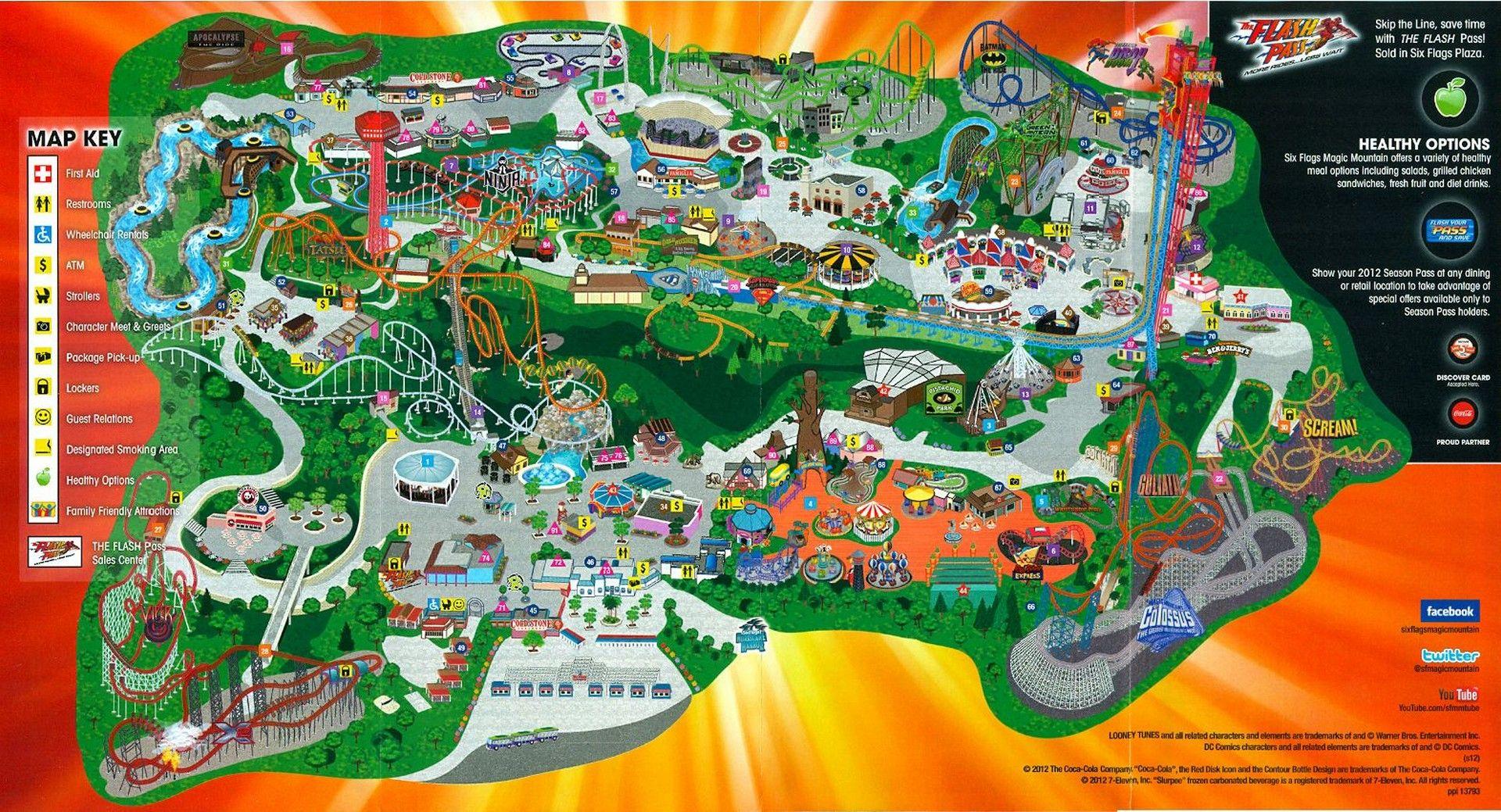 HD Six Flags Magic Mountain wallpaper Six Flags Magic Mountain 1920x1039