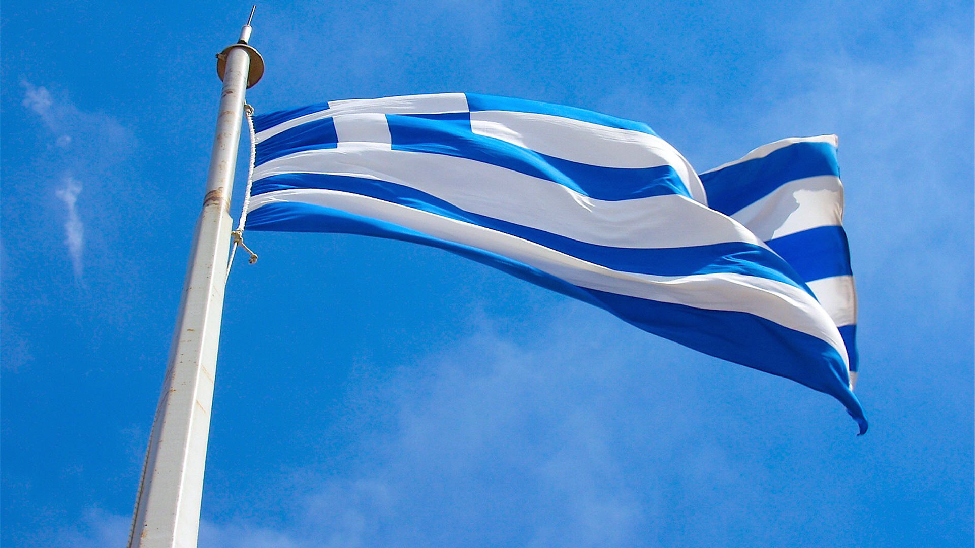 Greek Flag 1080p Wallpaper HD 1920x1080 6396 1920x1080
