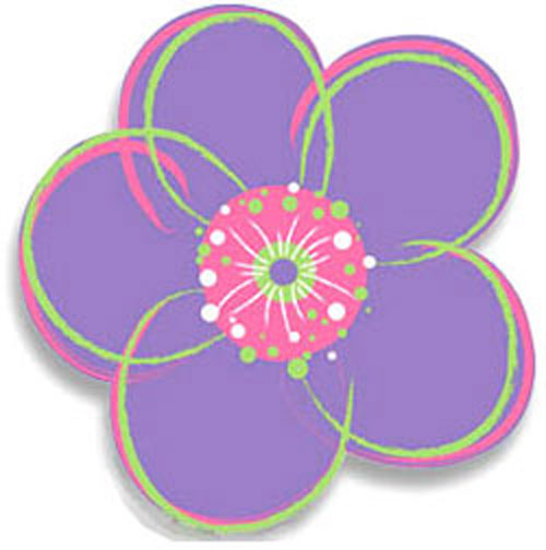 Poppies Purple Flower   Peel and Stick   4pc Wall Stickers 500x504