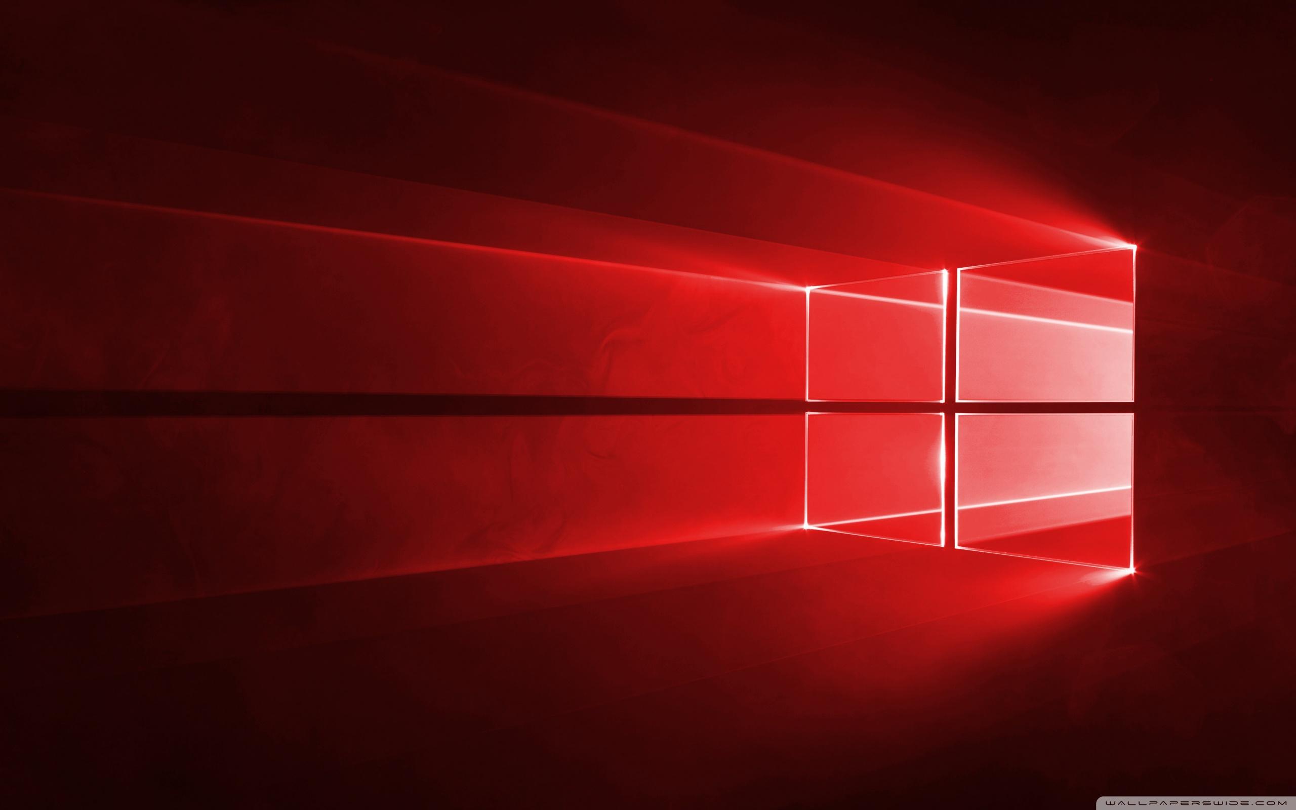 Windows 10 Red in 4K 4K HD Desktop Wallpaper for Wide Ultra 2560x1600
