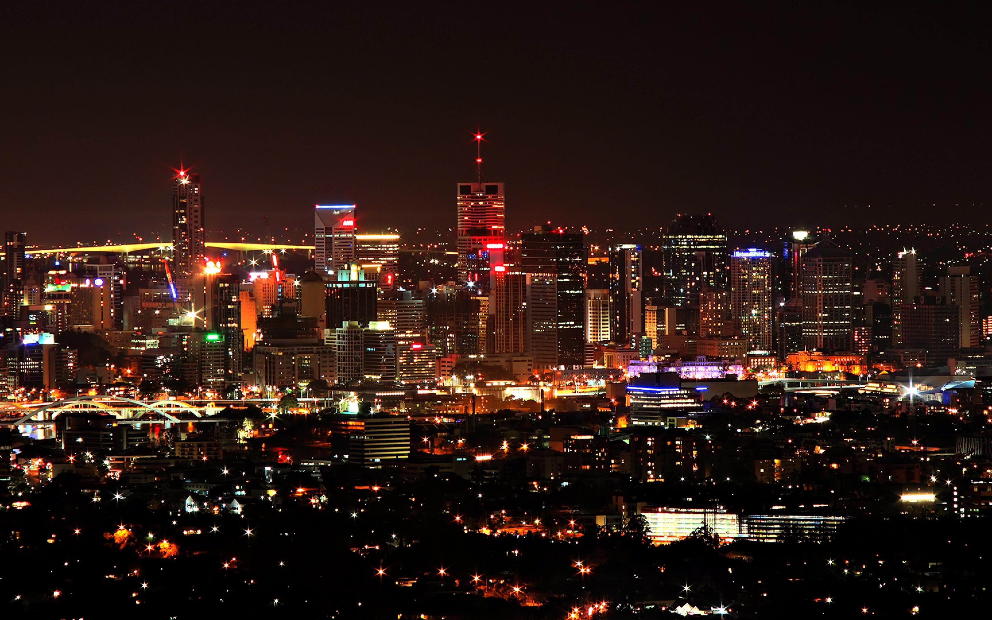 city night skyscrapers top view sky city lights 63137 3840x2400jpg 3840x2400