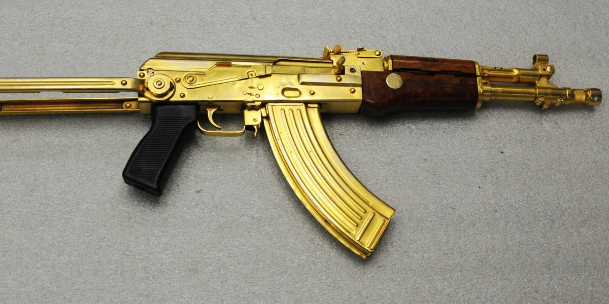 kalashnikov s ak 47 the rifle is gold plated and was seized during 1200x600