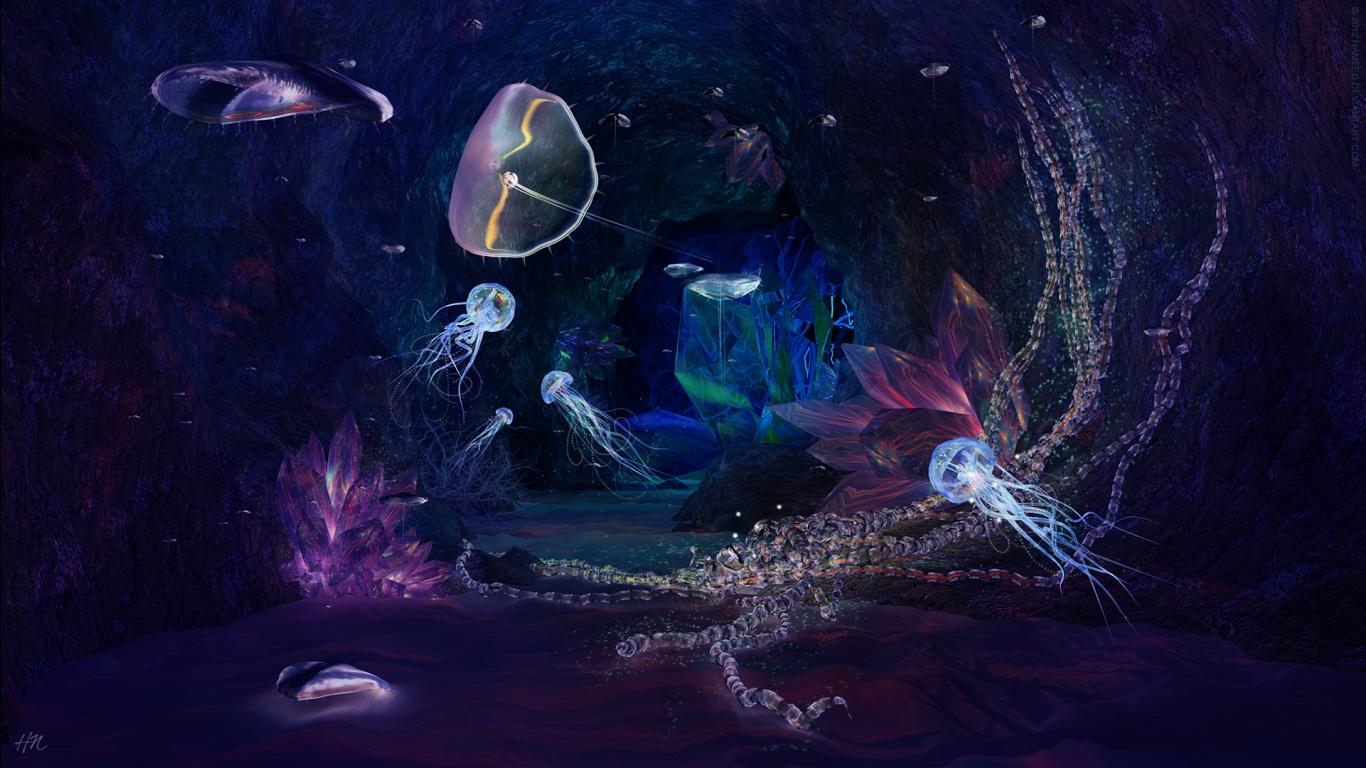 Deep Ocean Underwater Jewels HD Wallpaper HD Wallpapers High 1366x768