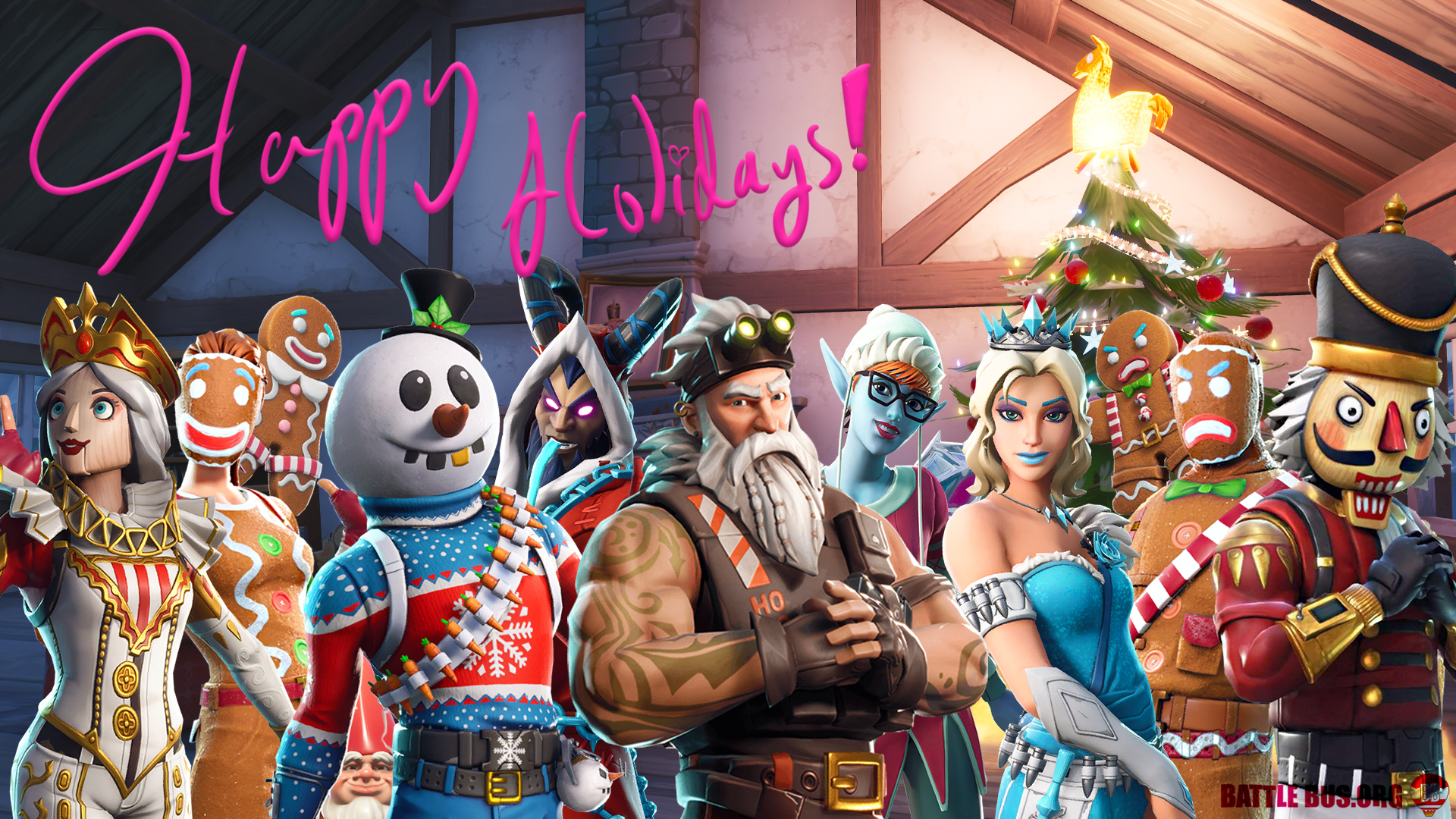 Every Fortnite Christmas Skin   did you get them all 1920x1080