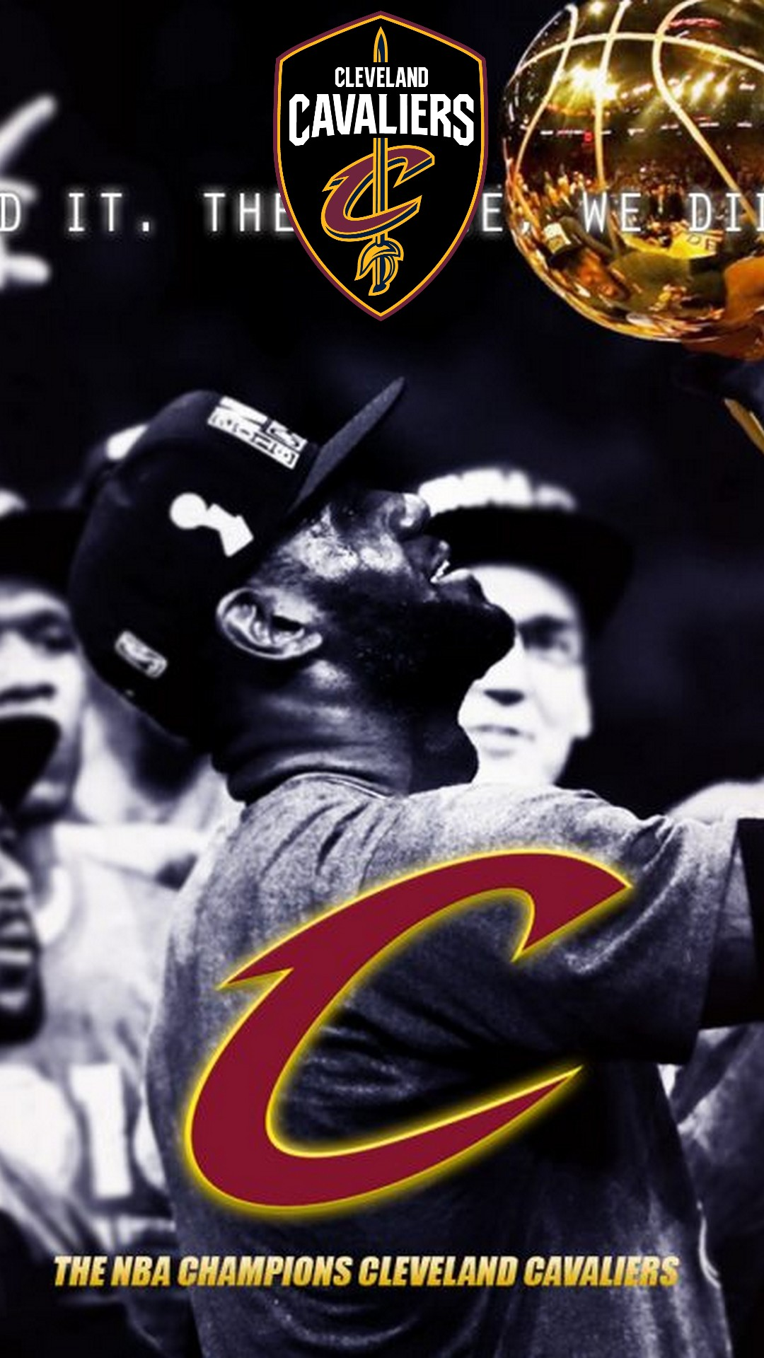 Cleveland Cavaliers NBA Mobile Wallpaper 2020 Basketball Wallpaper 1080x1920