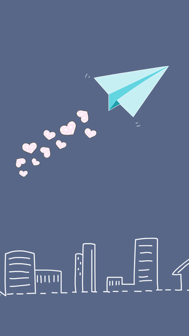 IPhone 5 Wallpapers HD Pretty Paper Airplane Backgrounds 640x1136