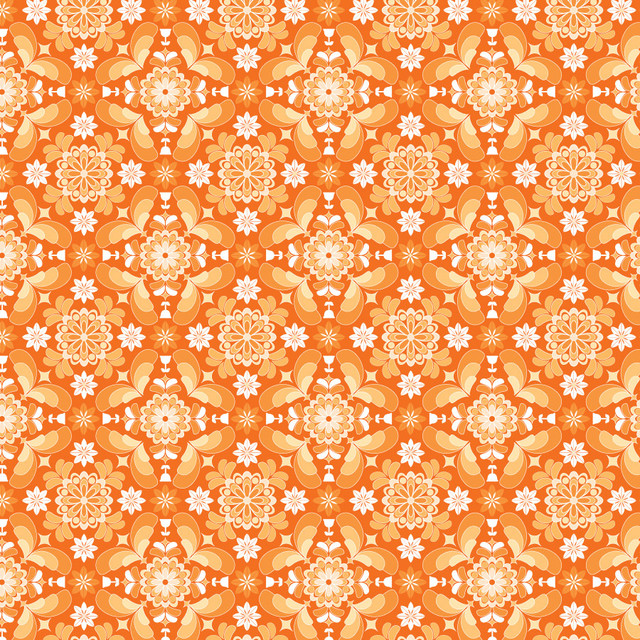 Room Service   Orange Wall Mural   Contemporary   Wallpaper   by 640x640
