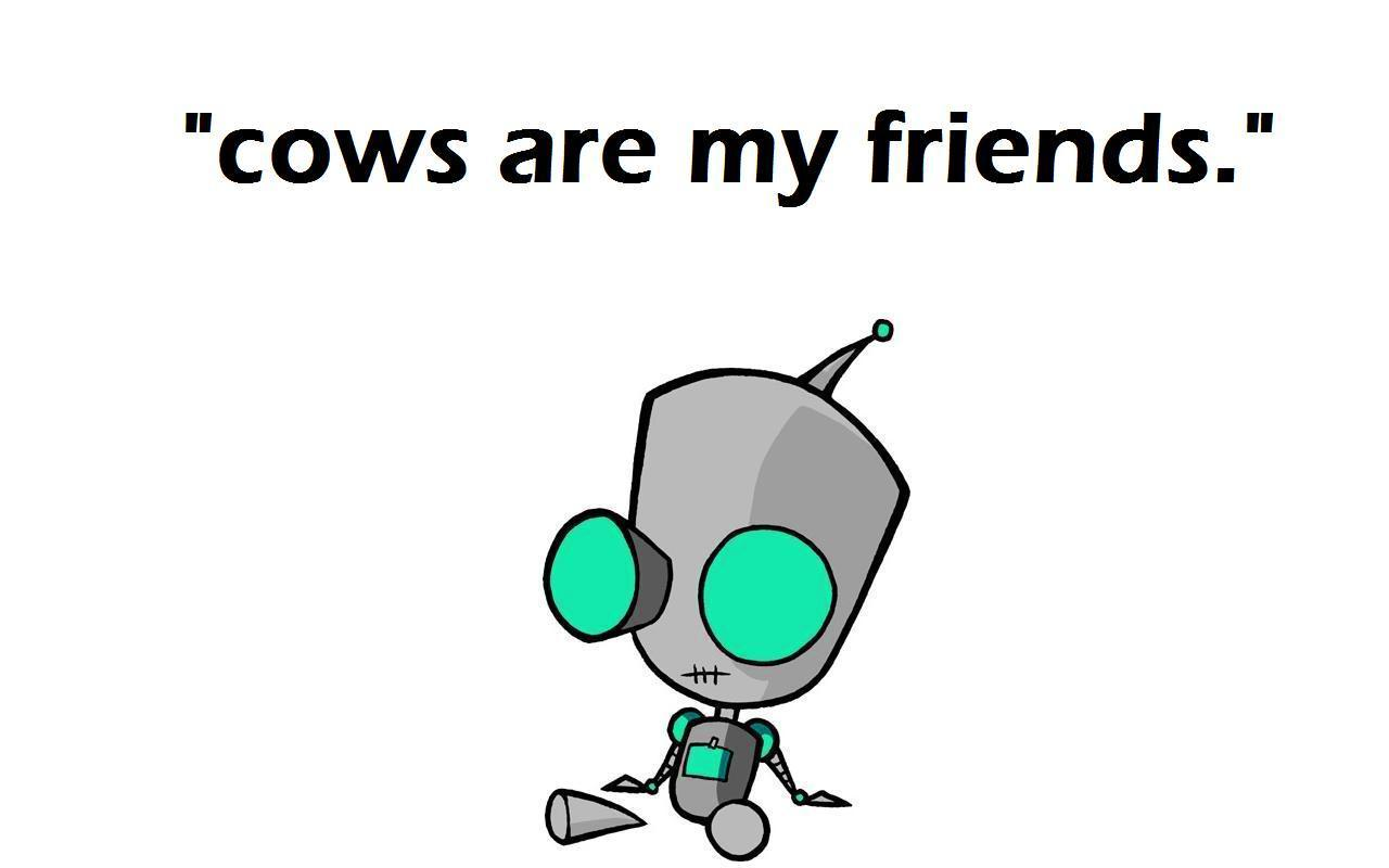 Invader Zim Cows Are My Friends 1280x800