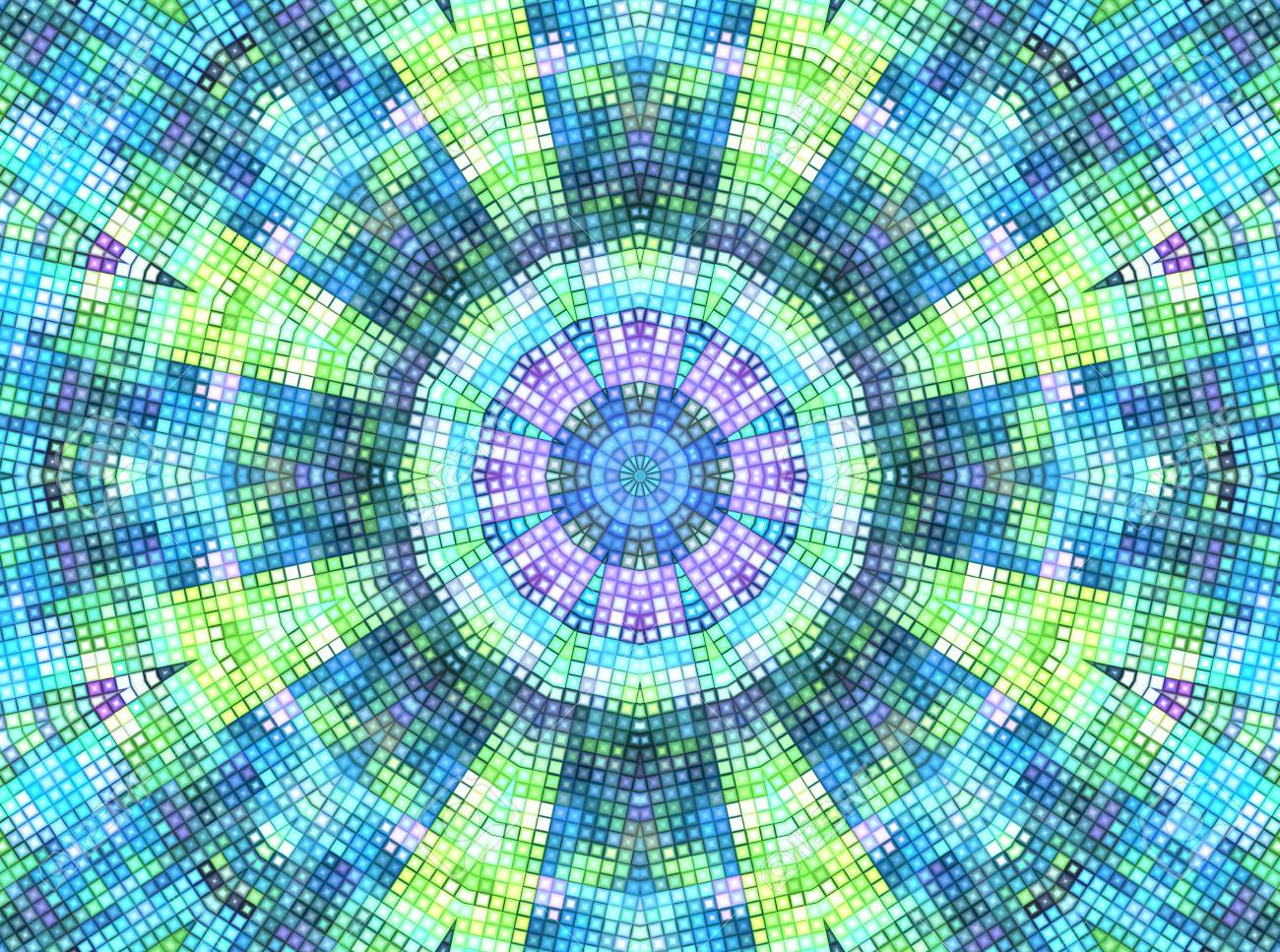 Bright Motley Background With Concentric Mosaic Pattern Stock 1300x967