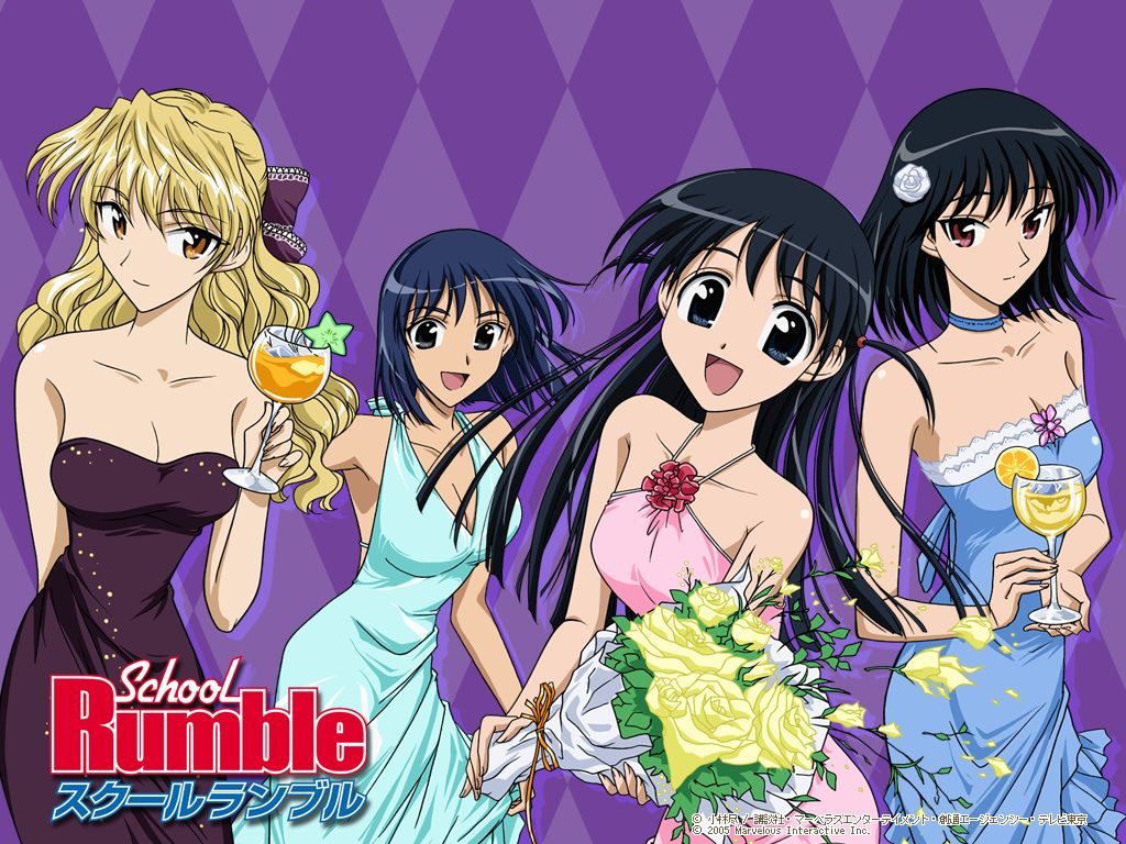 school rumble school rumble  wallpapers anime player 1024x768