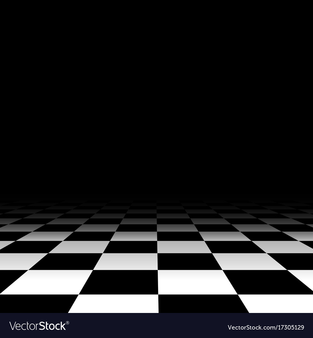 Black and white chess floor background Royalty Vector 1000x1080